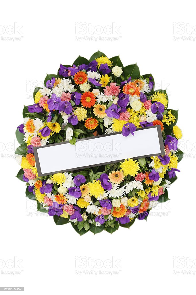 Funeral  Wreath. stock photo