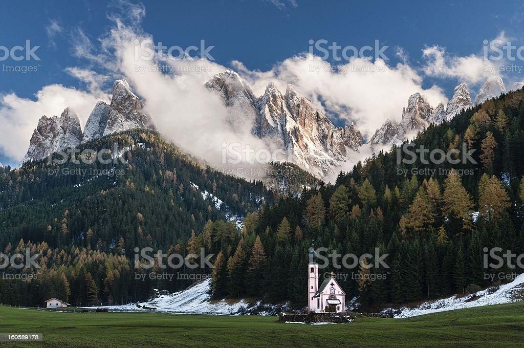 Funes valley stock photo