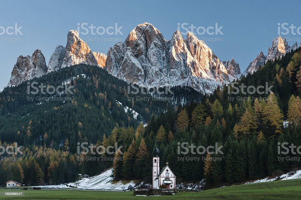 Funes valley royalty-free stock photo