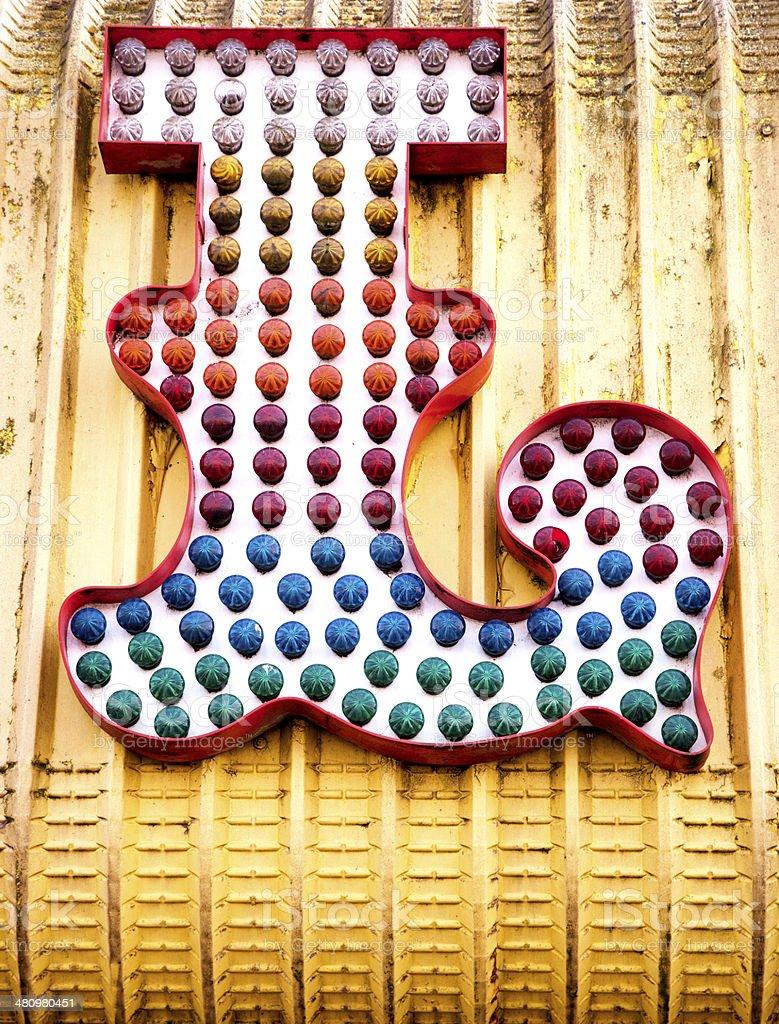 Funfair letter L stock photo