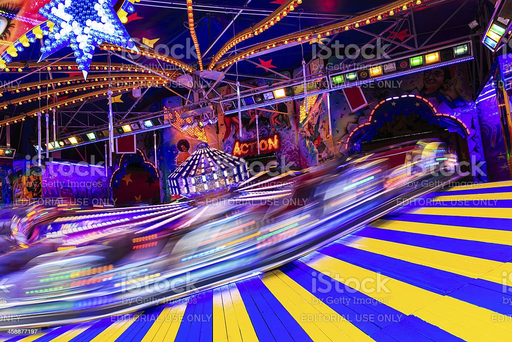Funfair ride at the Hamburger DOM royalty-free stock photo