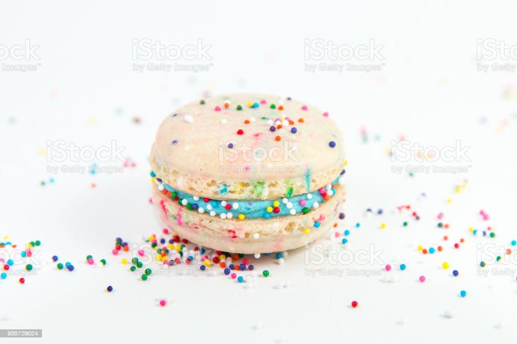 Funfetti Birthday Cake Macaron Royalty Free Stock Photo
