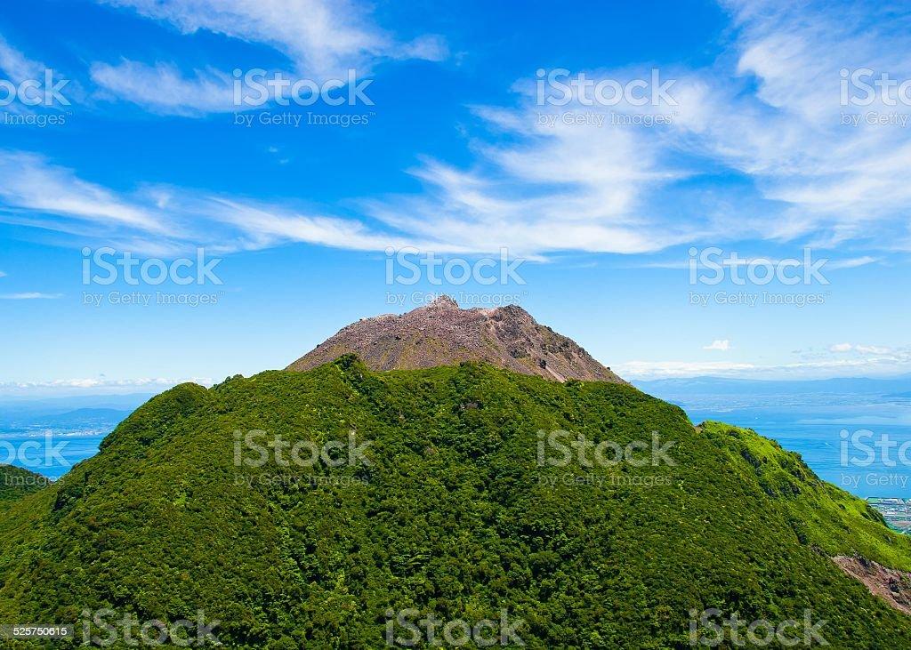 Fungendake summer view over Ariake Sea, Unzen Hot Spring Japan stock photo