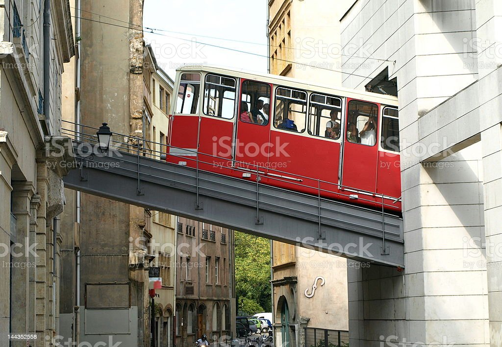 funiculaire stock photo