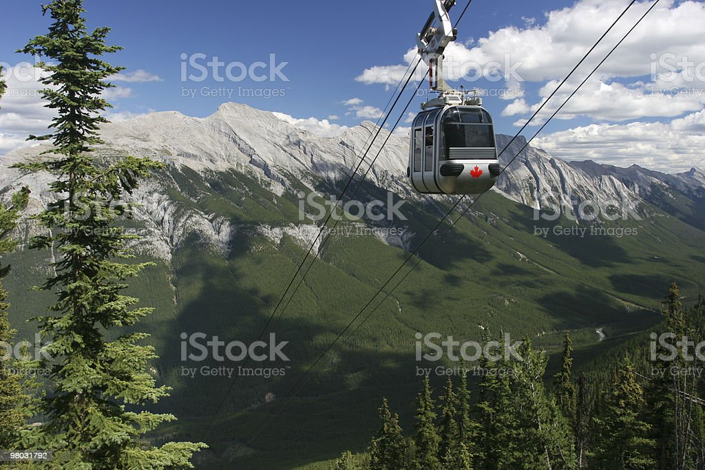 Funicular in Banff National Park, Canadian Rockies royalty-free stock photo