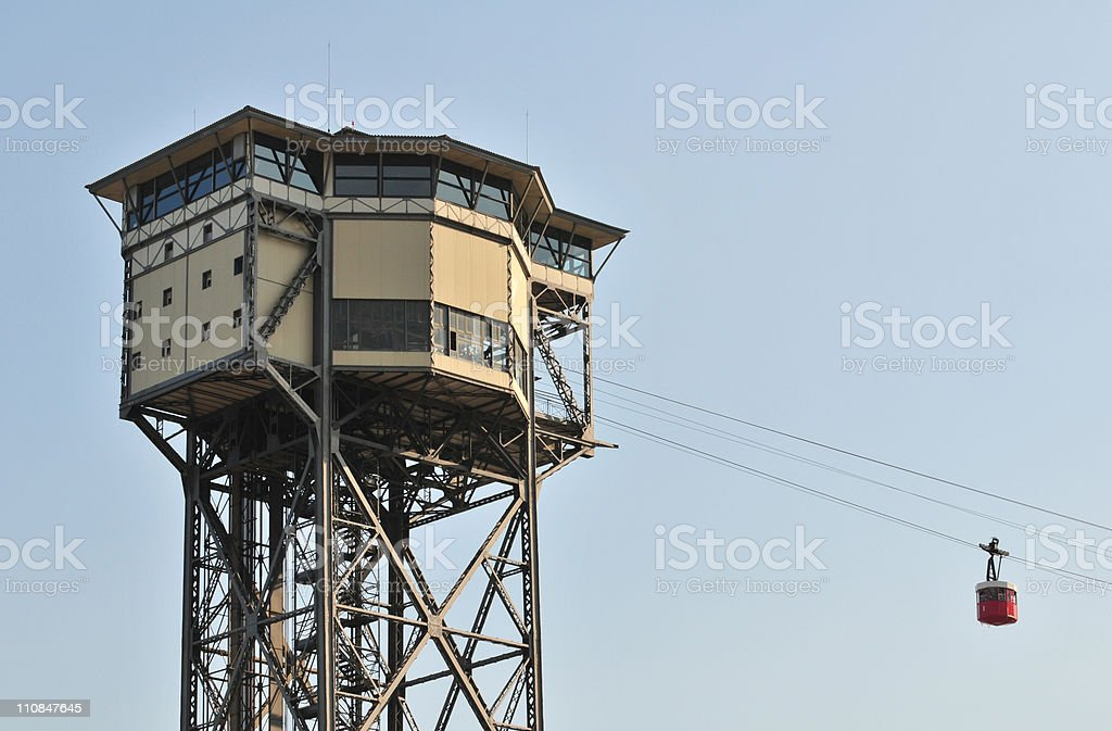 Funicular in Barcelona royalty-free stock photo