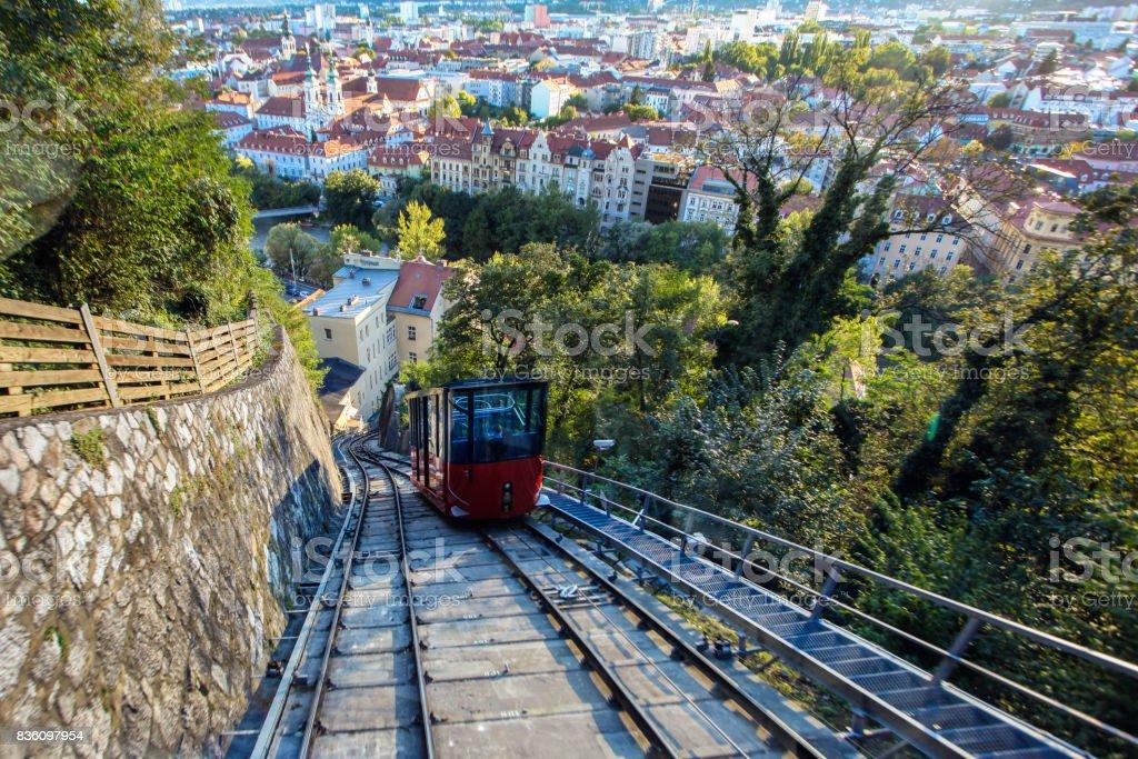 Funicular in Graz stock photo