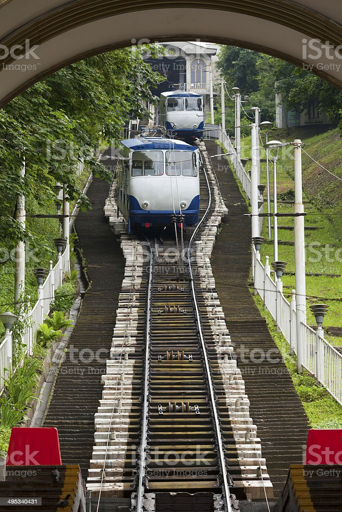 Funicular in Kyiv, Ukraine royalty-free stock photo