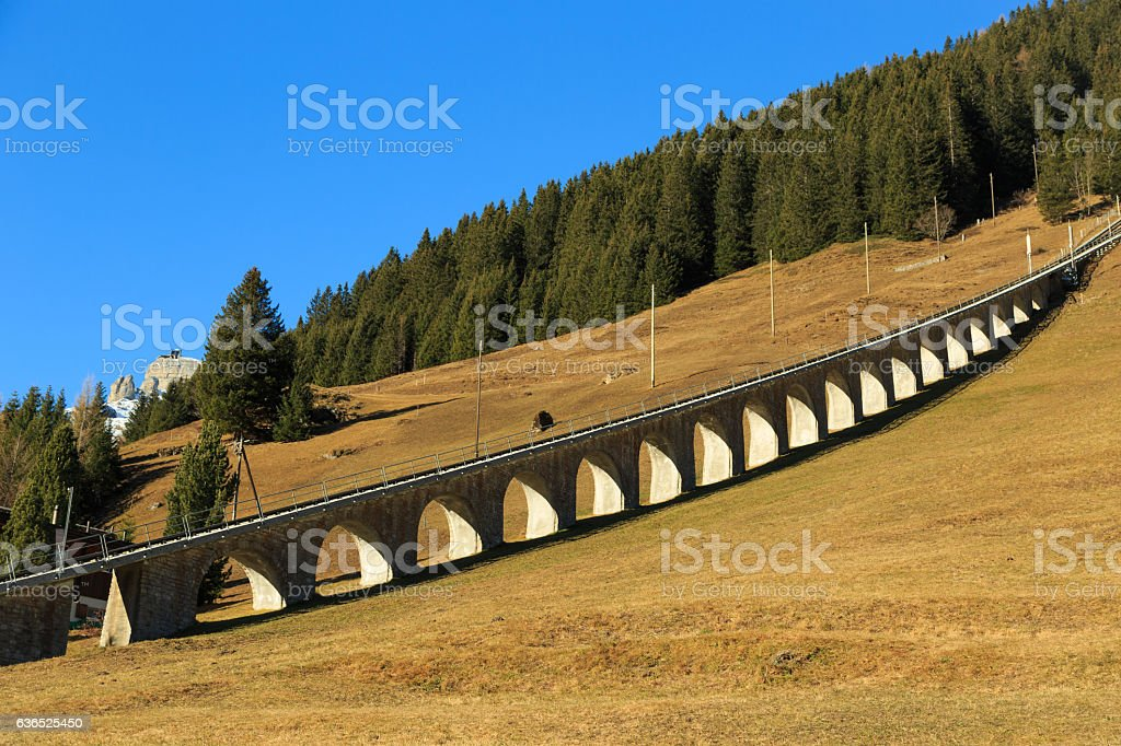 Funicular in Switzerland stock photo