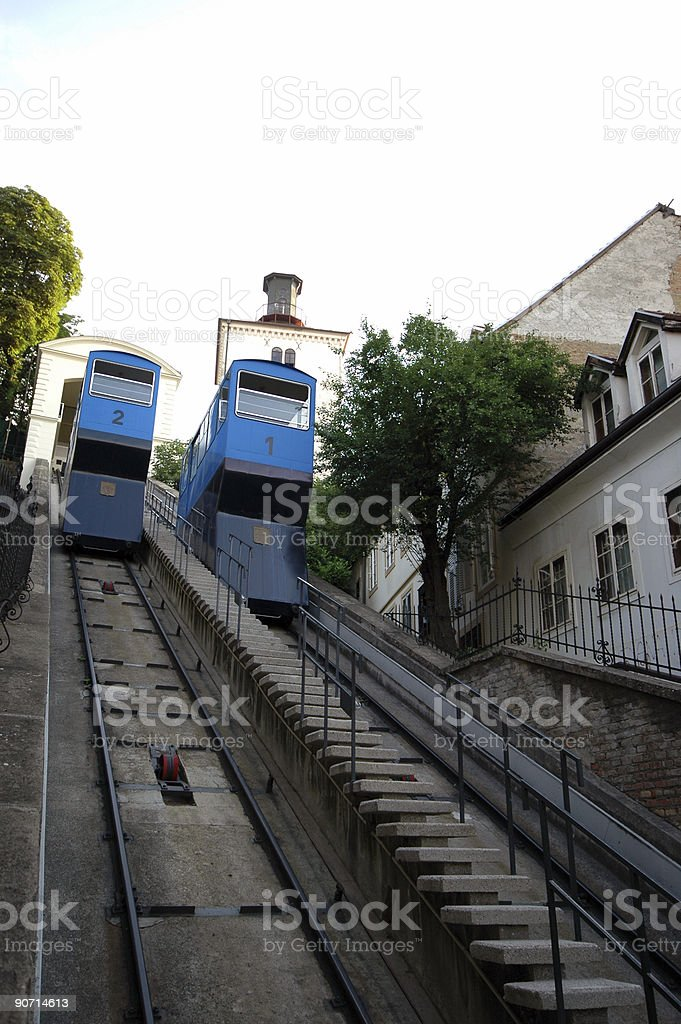 funicular zagreb royalty-free stock photo