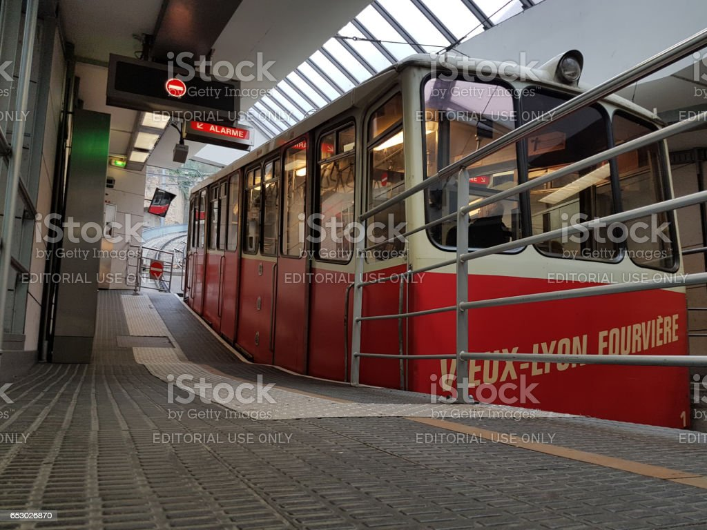 Funiculars of Lyon stock photo