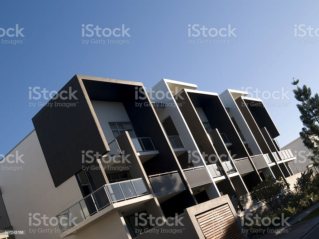 Funky apartment living stock photo