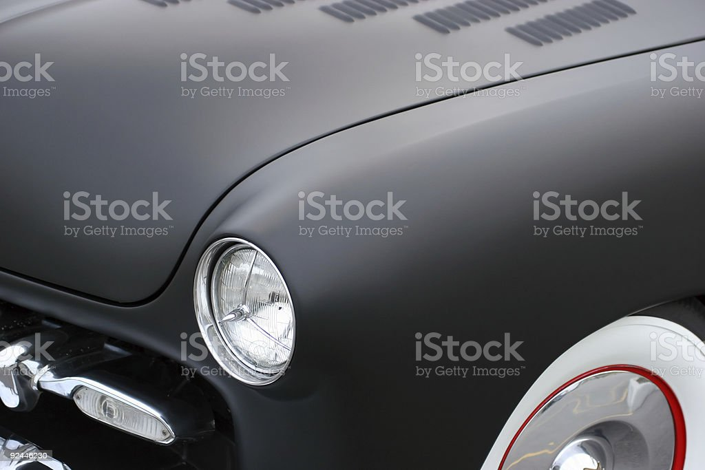 Funky Black Car Detail stock photo