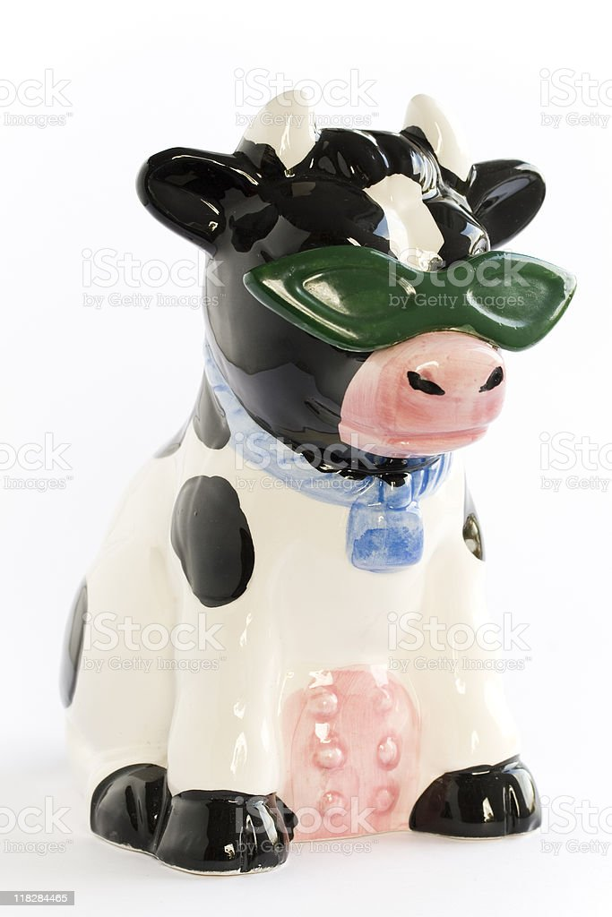 Funky Ceramic Cow stock photo