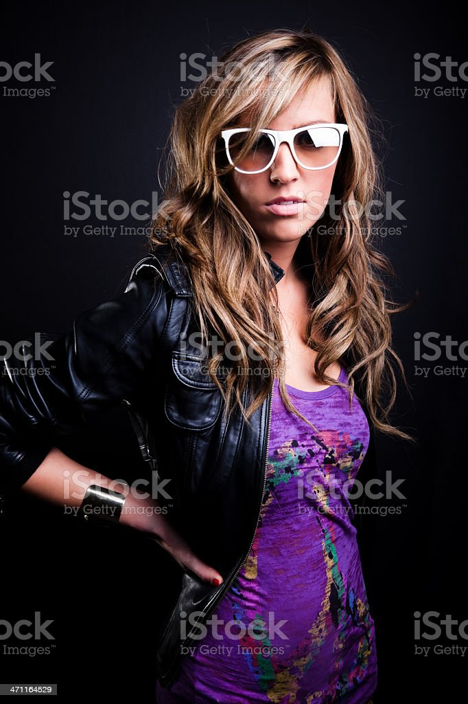 Funky Girl royalty-free stock photo