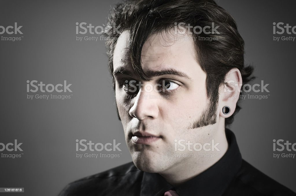 Funky Goth Hipster stock photo