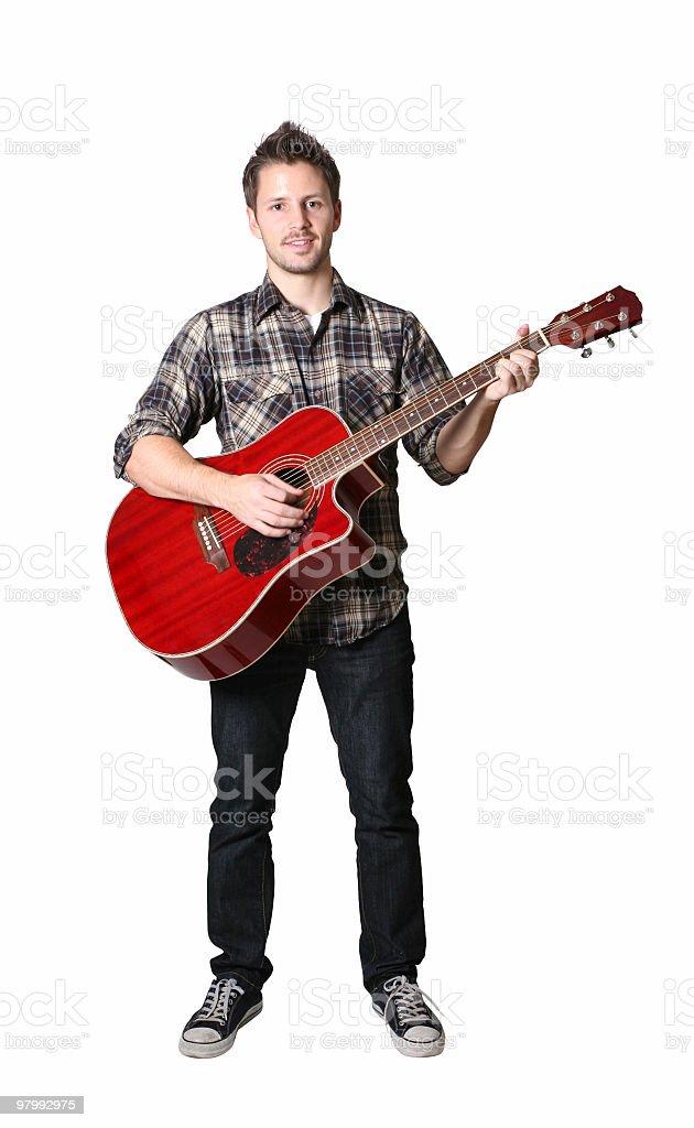 Funky guitar player royalty free stockfoto
