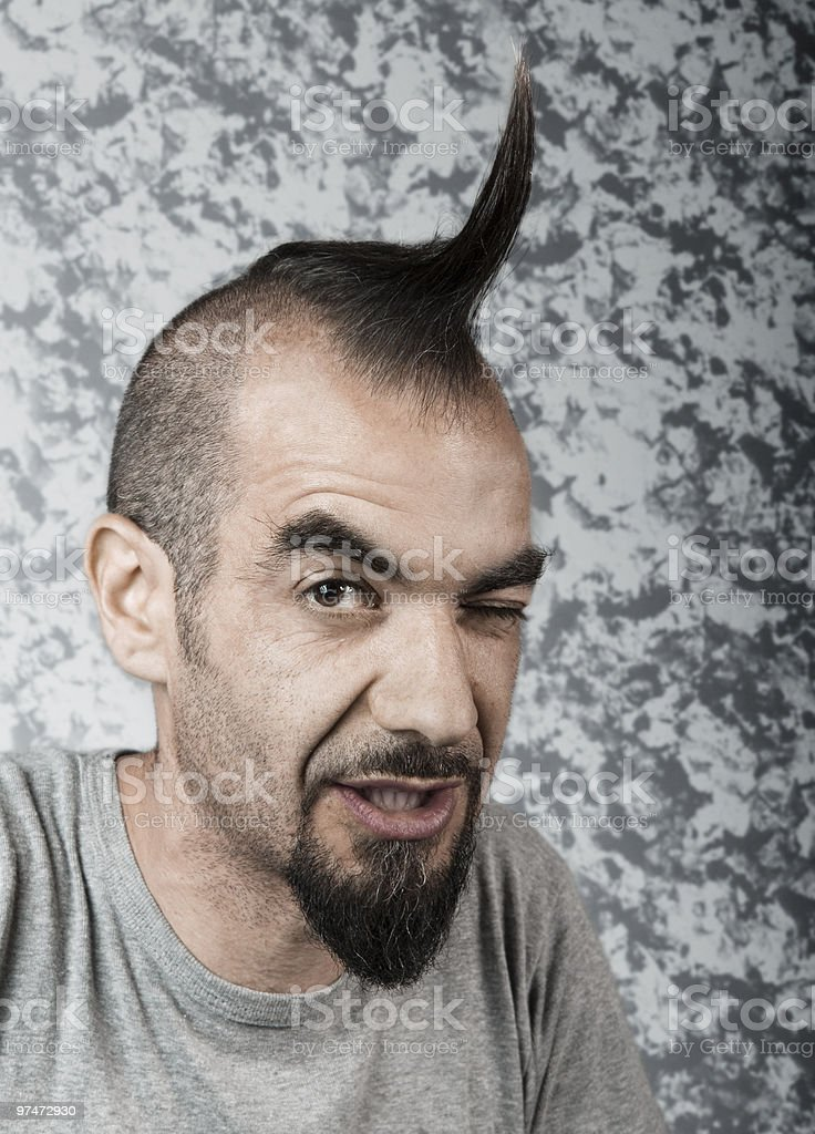 Funky Hair royalty-free stock photo