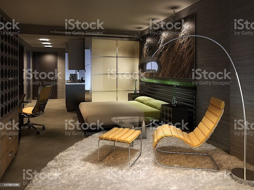 Funky hotel room royalty-free stock photo
