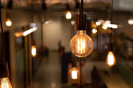 Funky Lighting In Modern Office