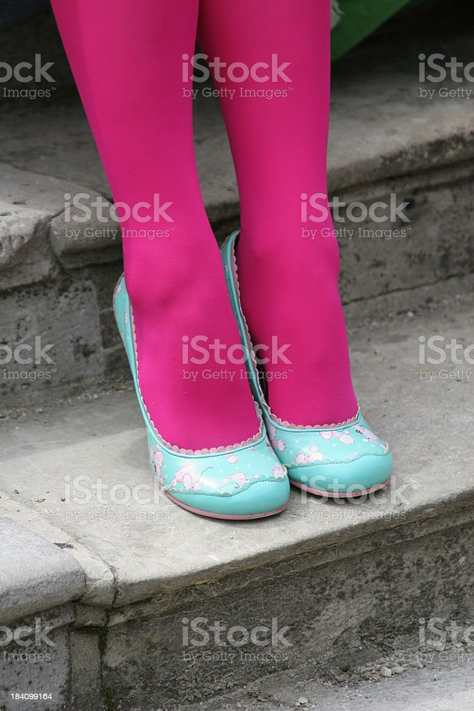 Funky New Shoes royalty-free stock photo