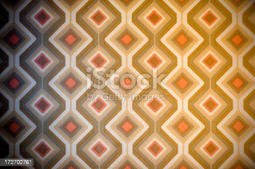 istock Funky retro 70s wallpaper 172702761