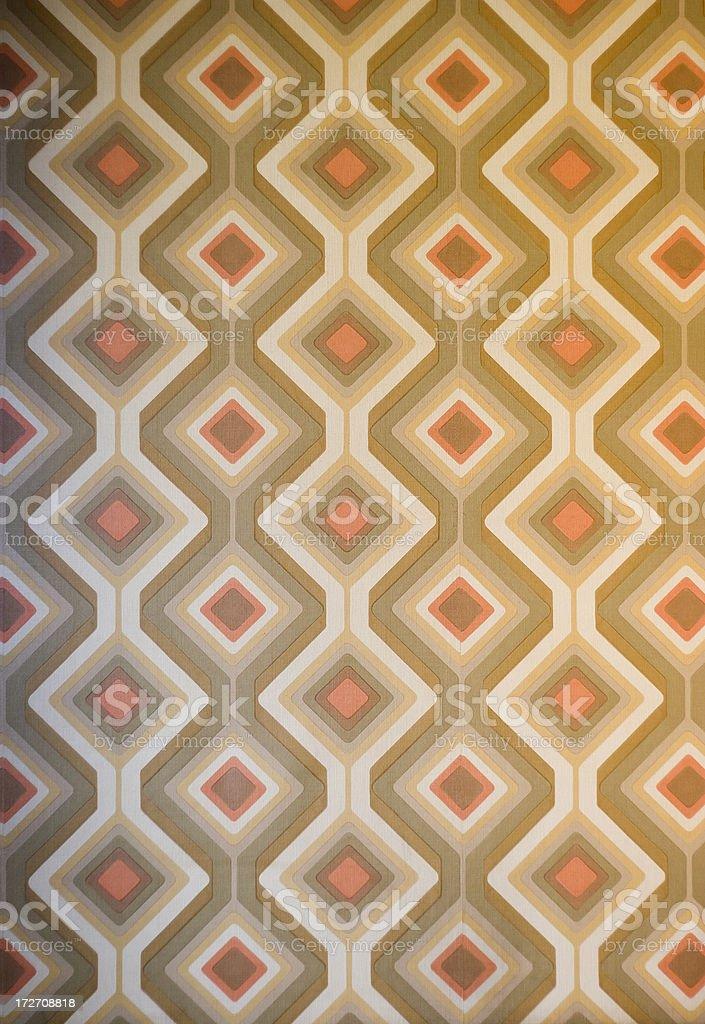 Funky retro 70s wallpaper stock photo