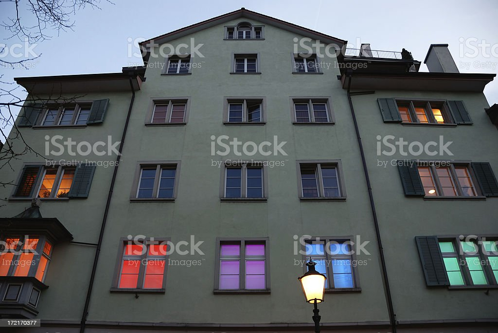 funky zurich at night royalty-free stock photo