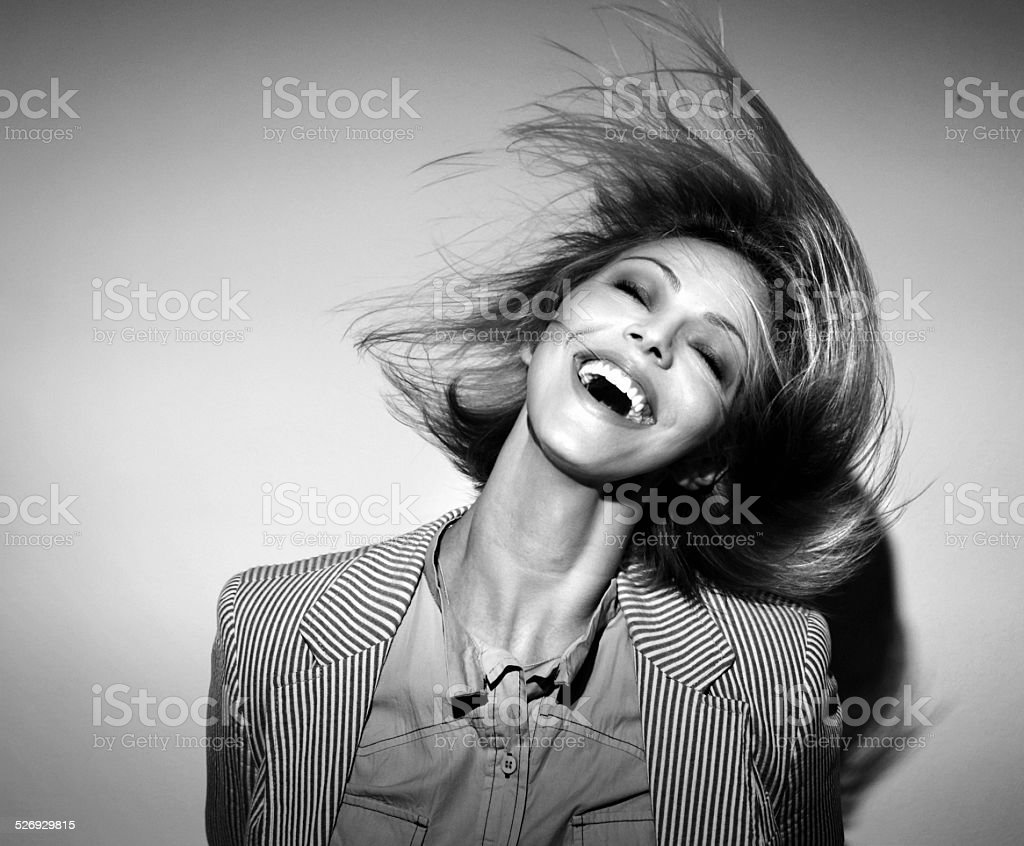 Funky,tousled,fashion. stock photo