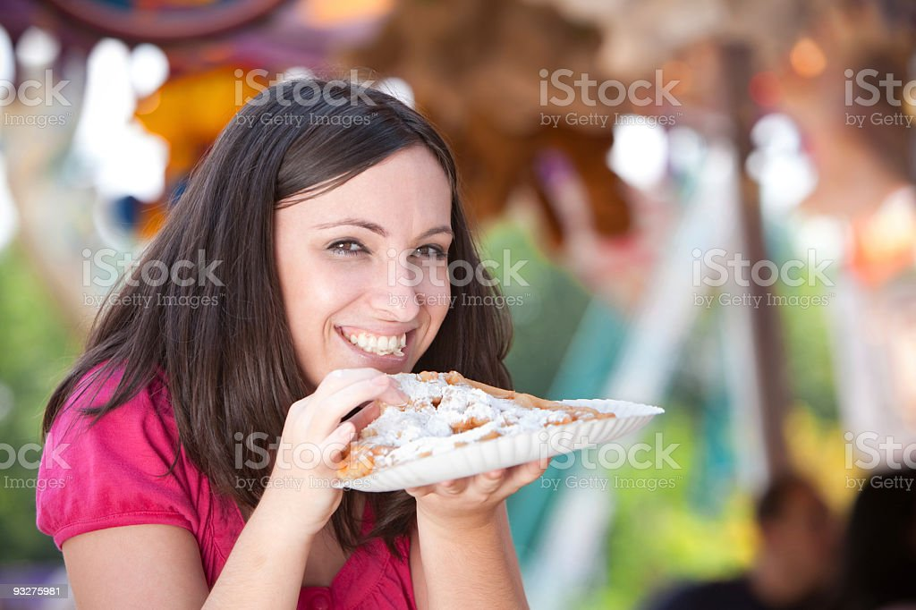 Funnel Cakes at a Festival stock photo
