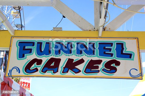 Sign at a Funnel Cake stand.