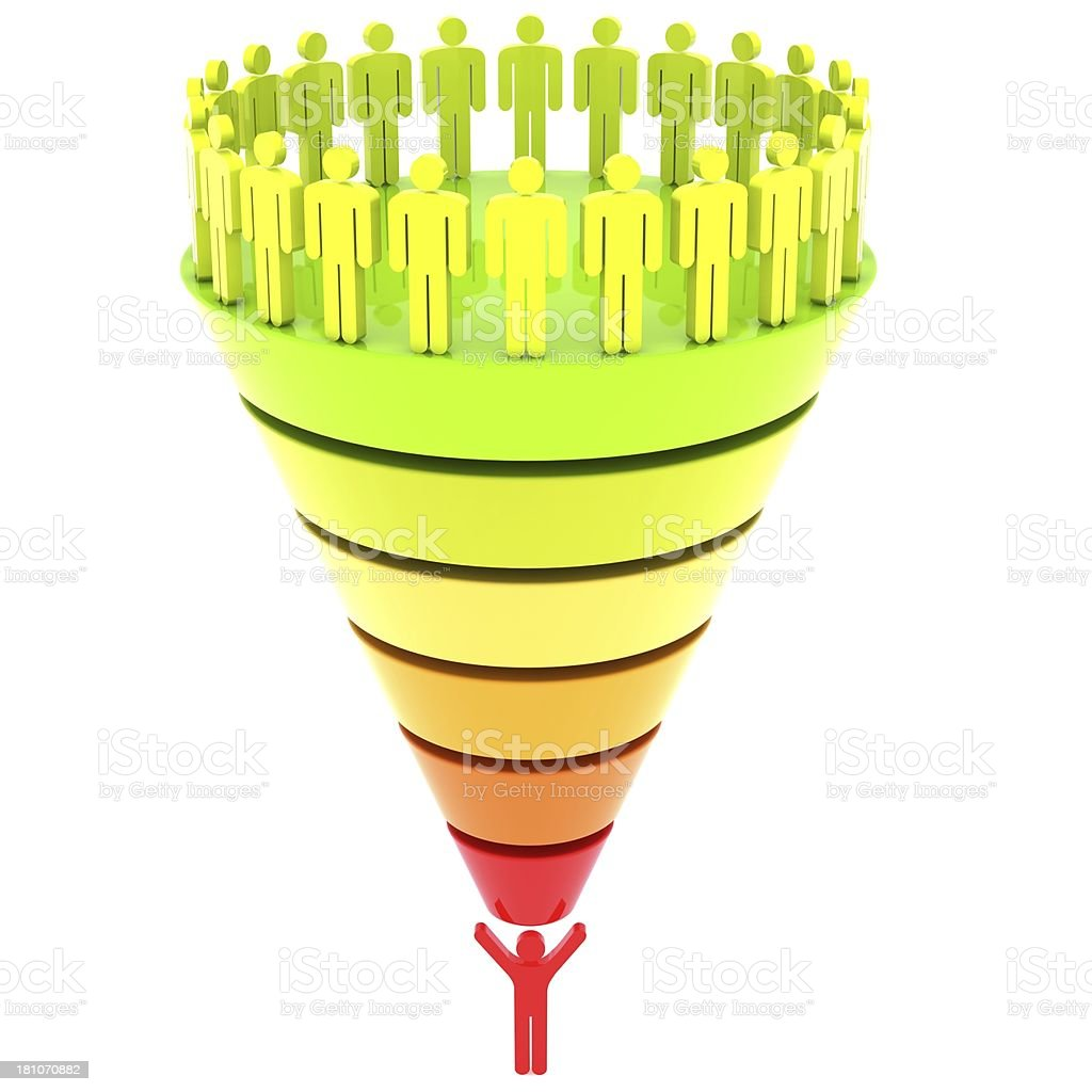 Funnel Graph royalty-free stock photo