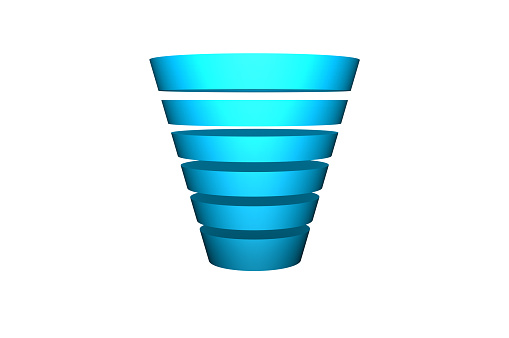 Gradient Funnel Isolated on a white background.