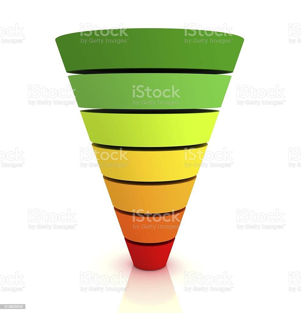 Funnel Graph stock photo