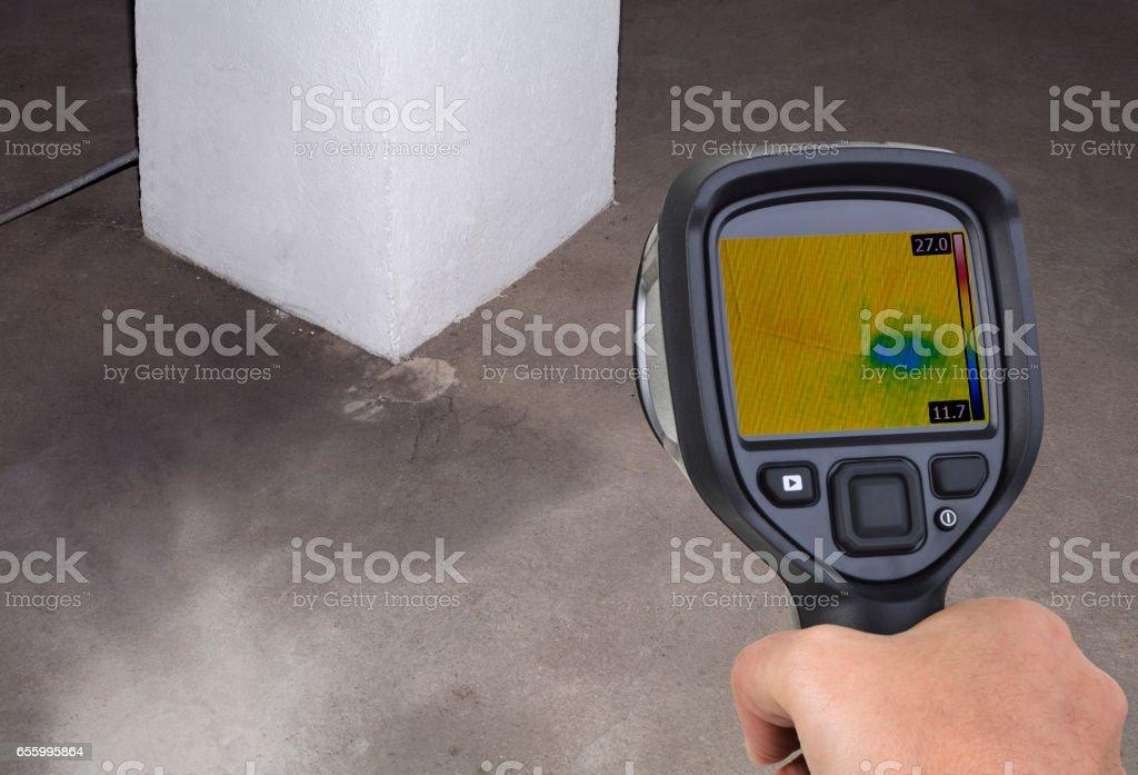 Funnel Leak Infrared stock photo