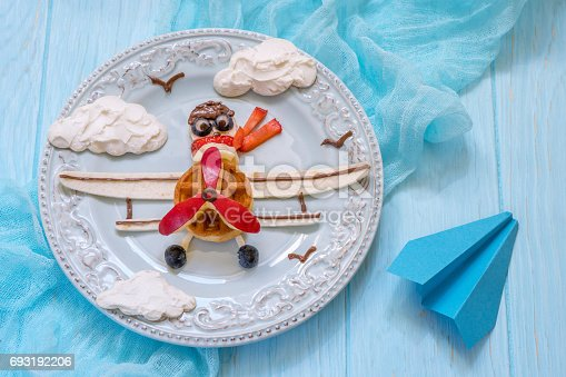 istock Funny Airplane breakfast for kids 693192206