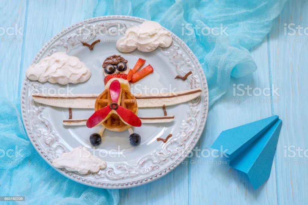Funny Airplane petit déjeuner pour enfants - Photo