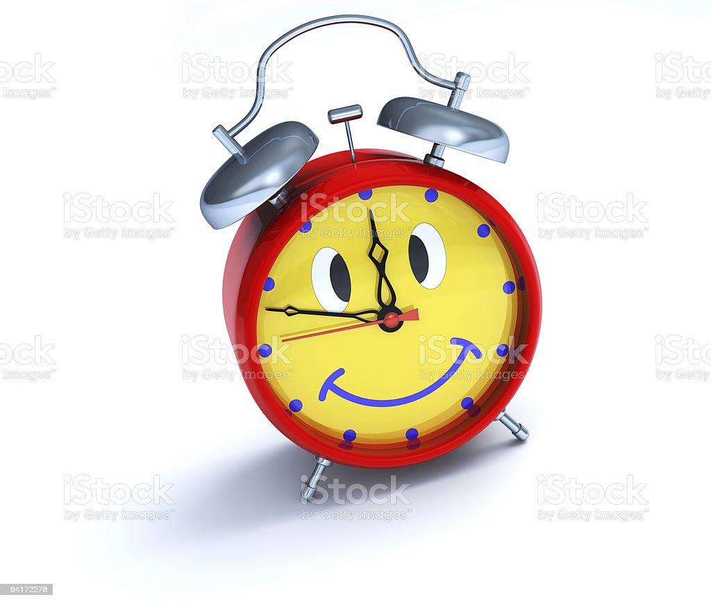 Funny alarm clock royalty-free stock photo