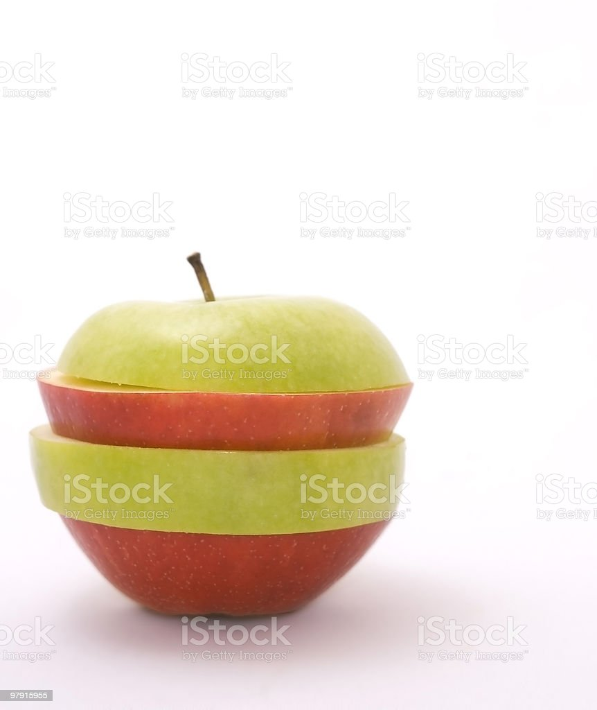Funny Apple royalty-free stock photo