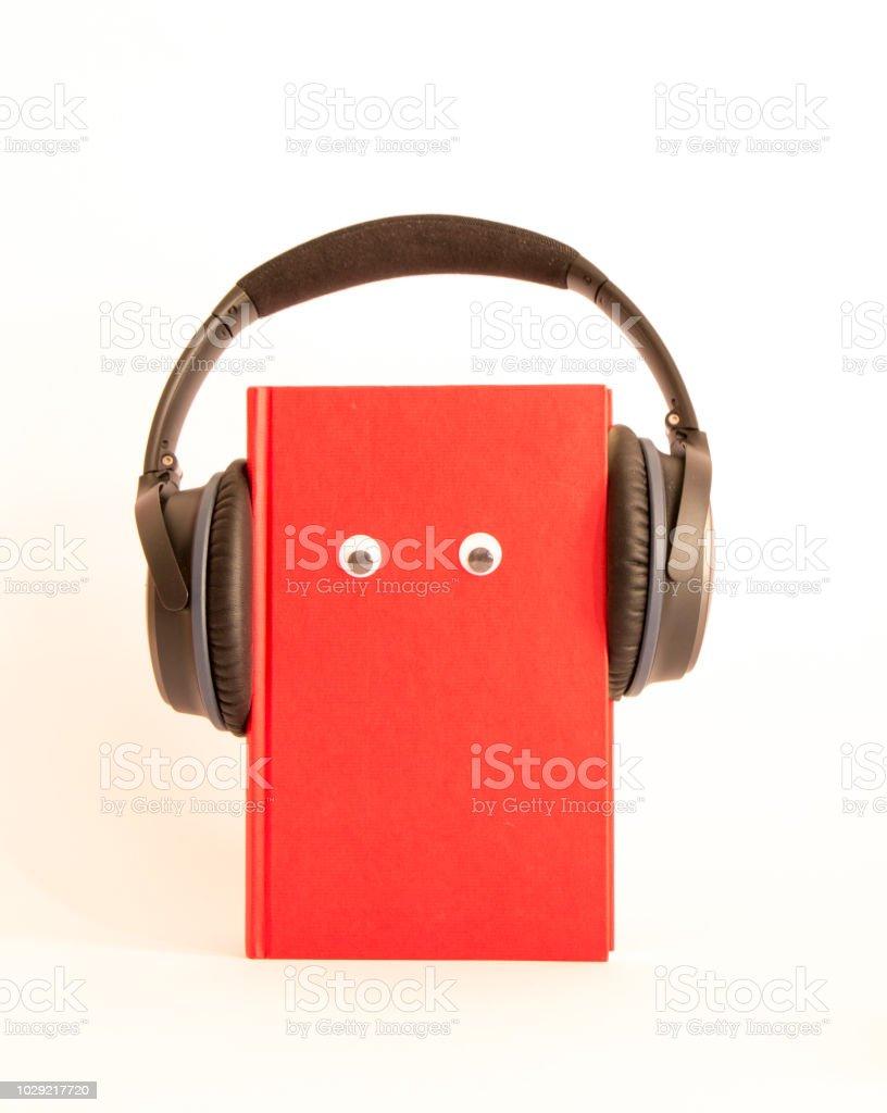 funny audio book stock photo