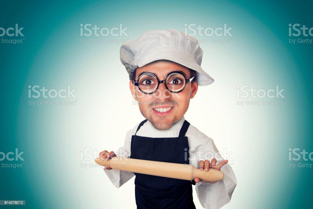 Homme drôle boulangerie - Photo