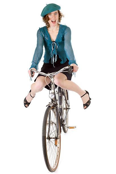 funny biking stock photo