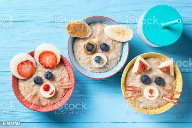 Funny bowls with oat porridge with cat dog and mouse faces made of picture id645673782?b=1&k=6&m=645673782&s=612x612&h=3ck5yyyhx1nbtbmbqzbrvauwm743ntfvzvlcj4eswgs=