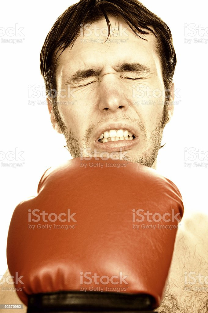 Funny boxer royalty-free stock photo