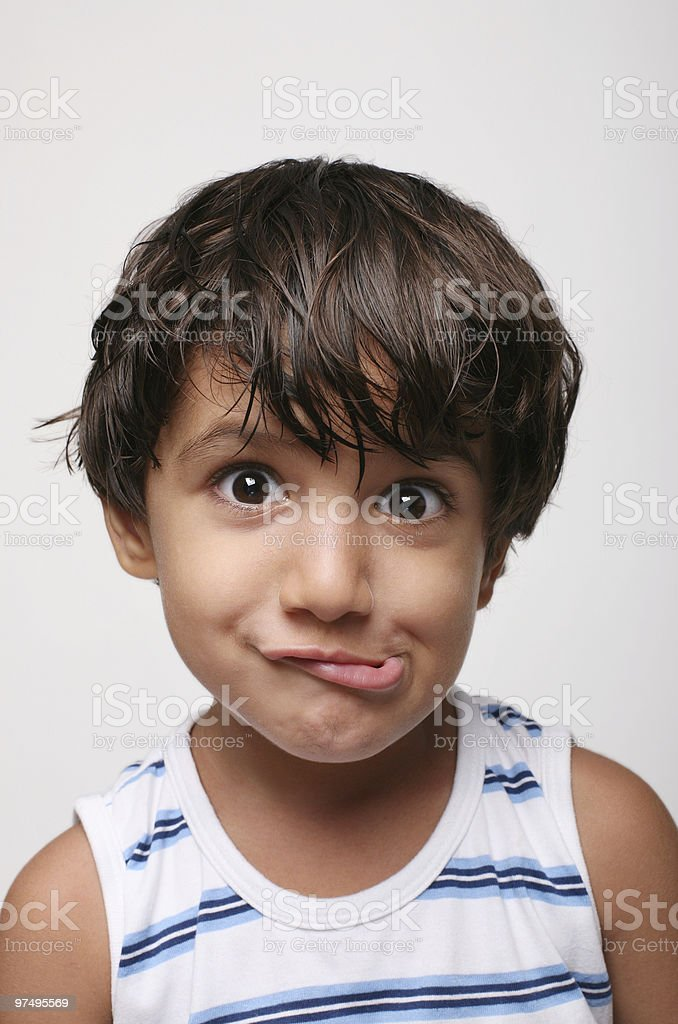 Funny boy royalty-free stock photo