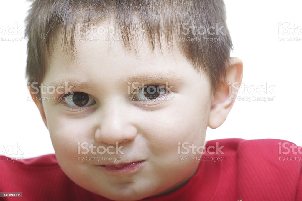 Funny boy with fat cheeks royalty-free stock photo