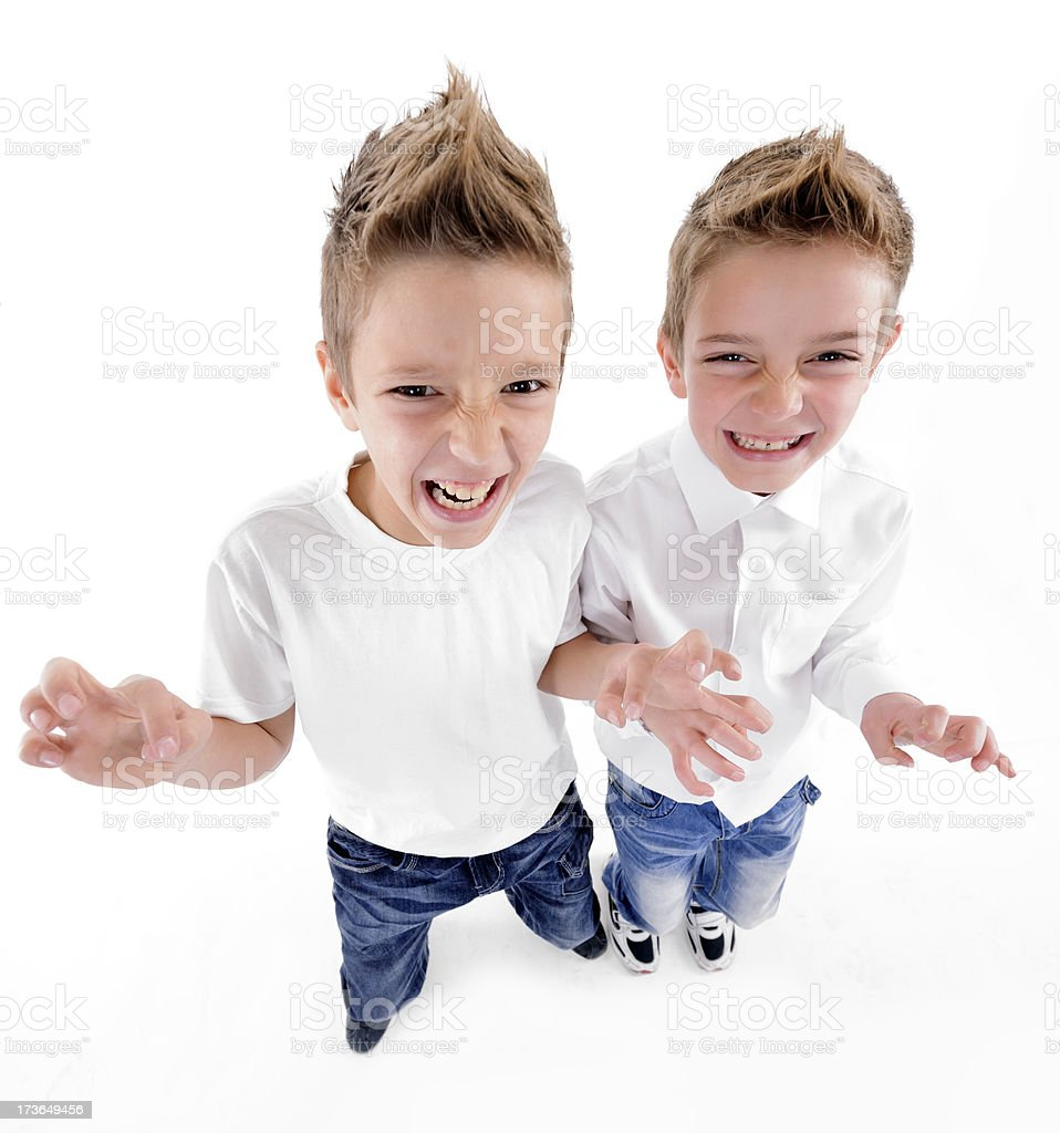 funny boys royalty-free stock photo