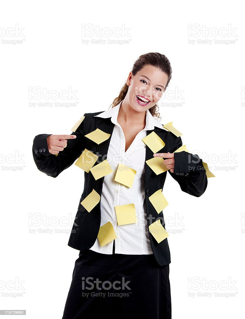 Funny business woman royalty-free stock photo