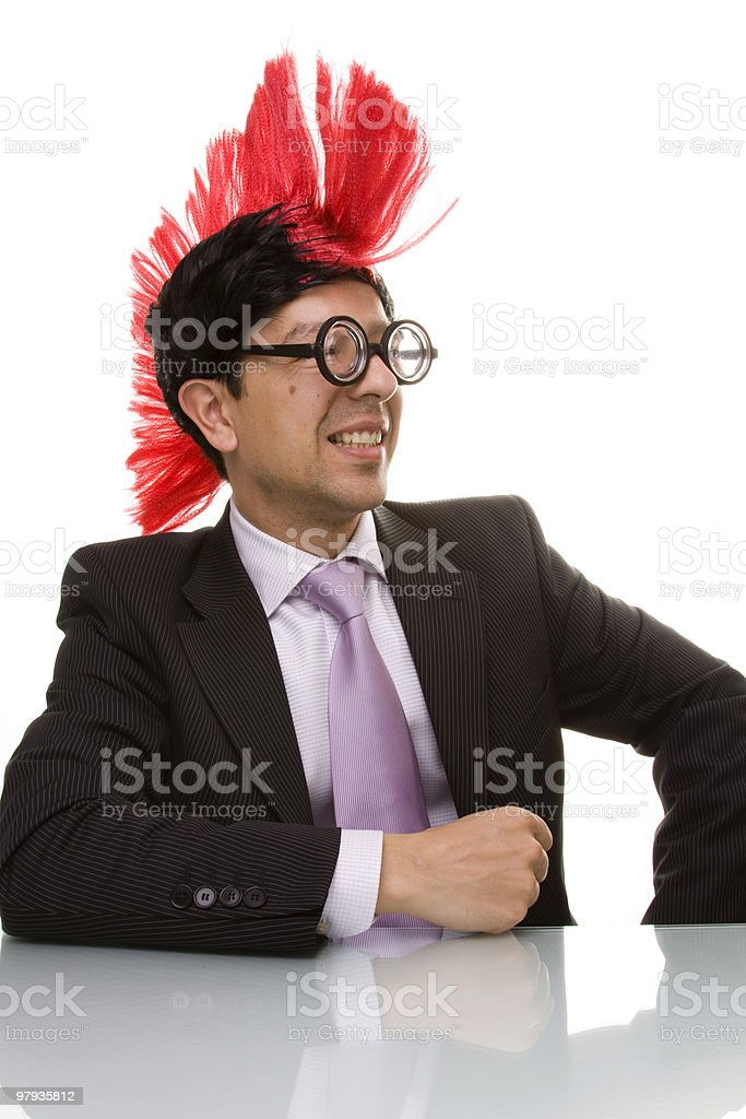 funny businessman smiling royalty-free stock photo