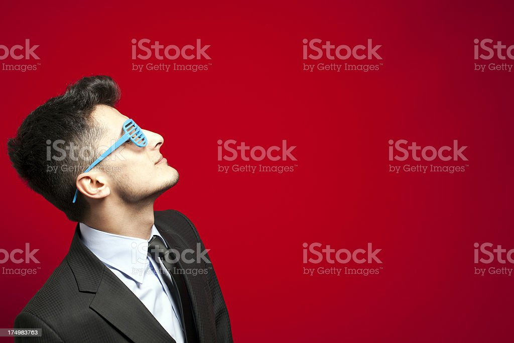 Funny Businessman - You Can Trust Me ? royalty-free stock photo